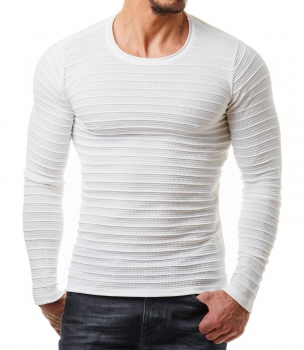 Pull homme moulant blanc ROMA 724