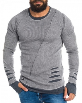 pull homme gris destroy chadow 3020