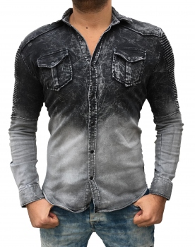 chemise homme jogg jeans  gris tie and dye 181