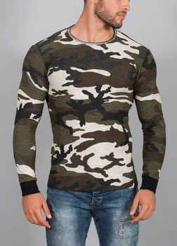 pull homme camouflage gris 712