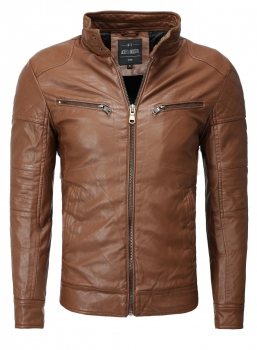 Blouson homme imitation cuir marron came RAFFY