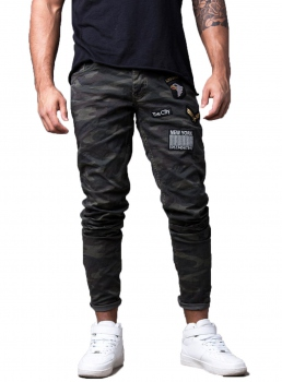 jeans homme camo  skinny 317