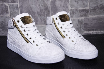 Sneakers homme blanche  montante  snake 65