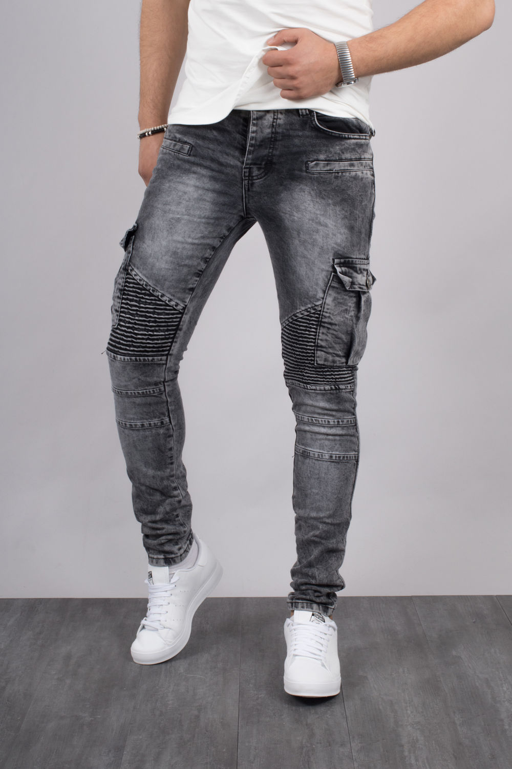 exclusive range new lower prices sale uk jeans homme cargo skinny gris 305