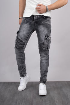jeans homme cargo skinny gris 305