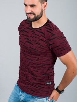 T-shirt homme Relief bordeaux 186