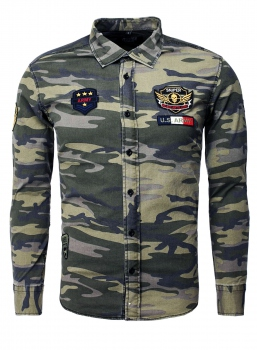 chemise  homme camouflage 349