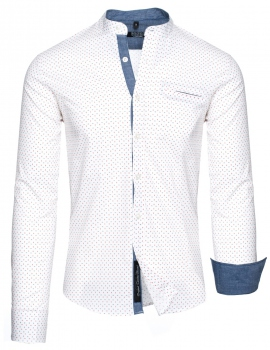 chemise  homme col mao blanc 358