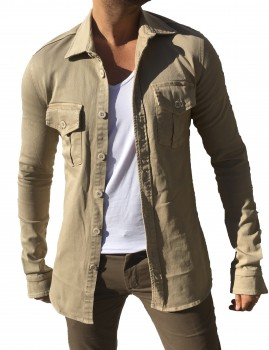 chemise homme  beige 228