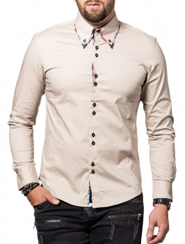 chemise homme  italienne beige 110