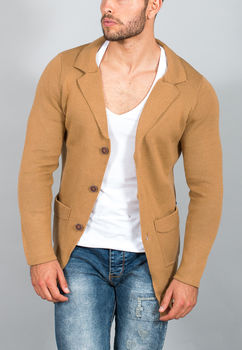 Cardigan homme marron 477