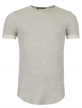 T-shirt homme tunique gris  1006