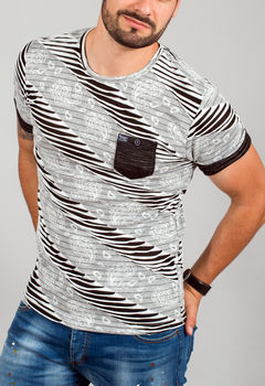 T-shirt homme tunique blanc Costa 142