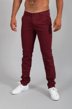 chino homme slim bordeaux  566