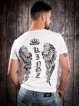 T-shirt homme stylé ailes blanc