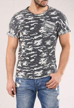 T-shirt homme camouflage bleu Navy 169