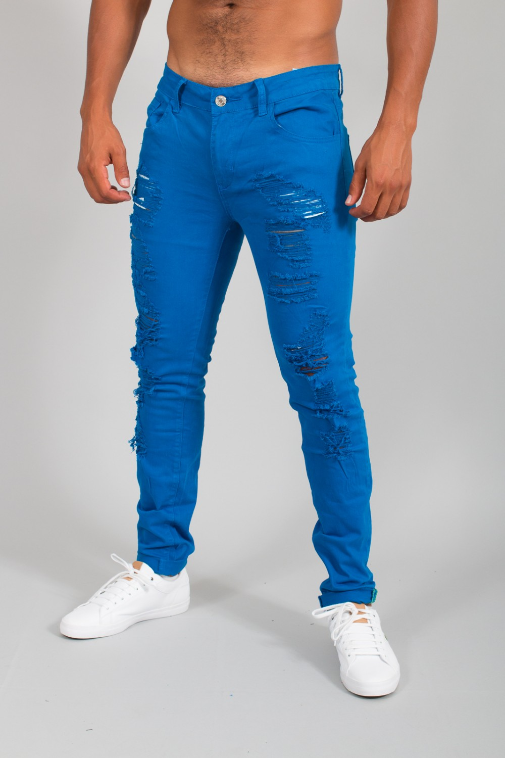 Destroy Hombre Electric Blue Slim Vaqueros 581 nk8XwOP0