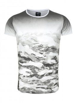 T-shirt homme camouflage blanc 43800