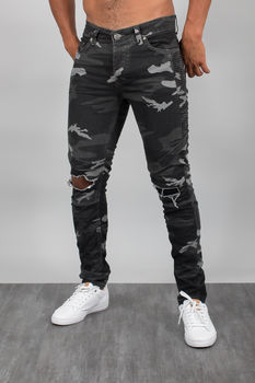 jeans homme camouflage destroy 32180
