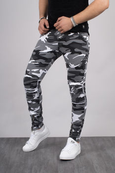 jeans homme camouflage blanc 32210