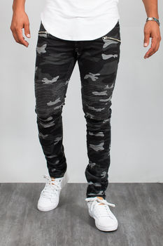jeans homme camouflage 32200