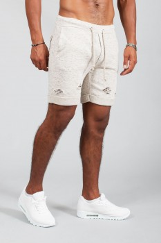 Short homme beige destroy 3468