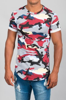 T-shirt homme camouflage red 27