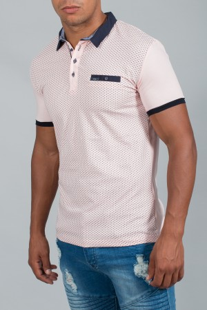 polo homme rose slimfit 170775