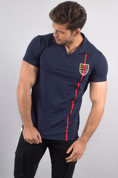 polo homme bleu up