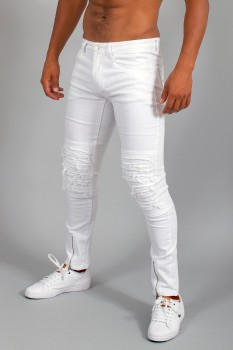 jeans homme blanc skinny 6218