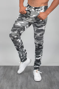 pants homme camouflage blanc 32170