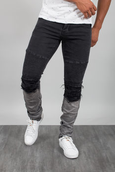 jeans homme tie and dye noir