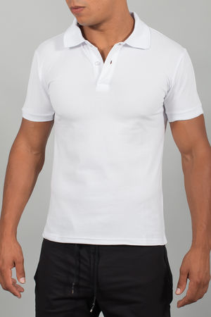 polo homme basic blanc