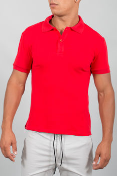 polo homme basic rouge