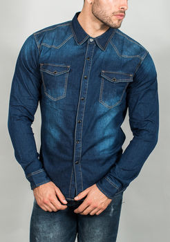 chemise homme jeans brute 6853
