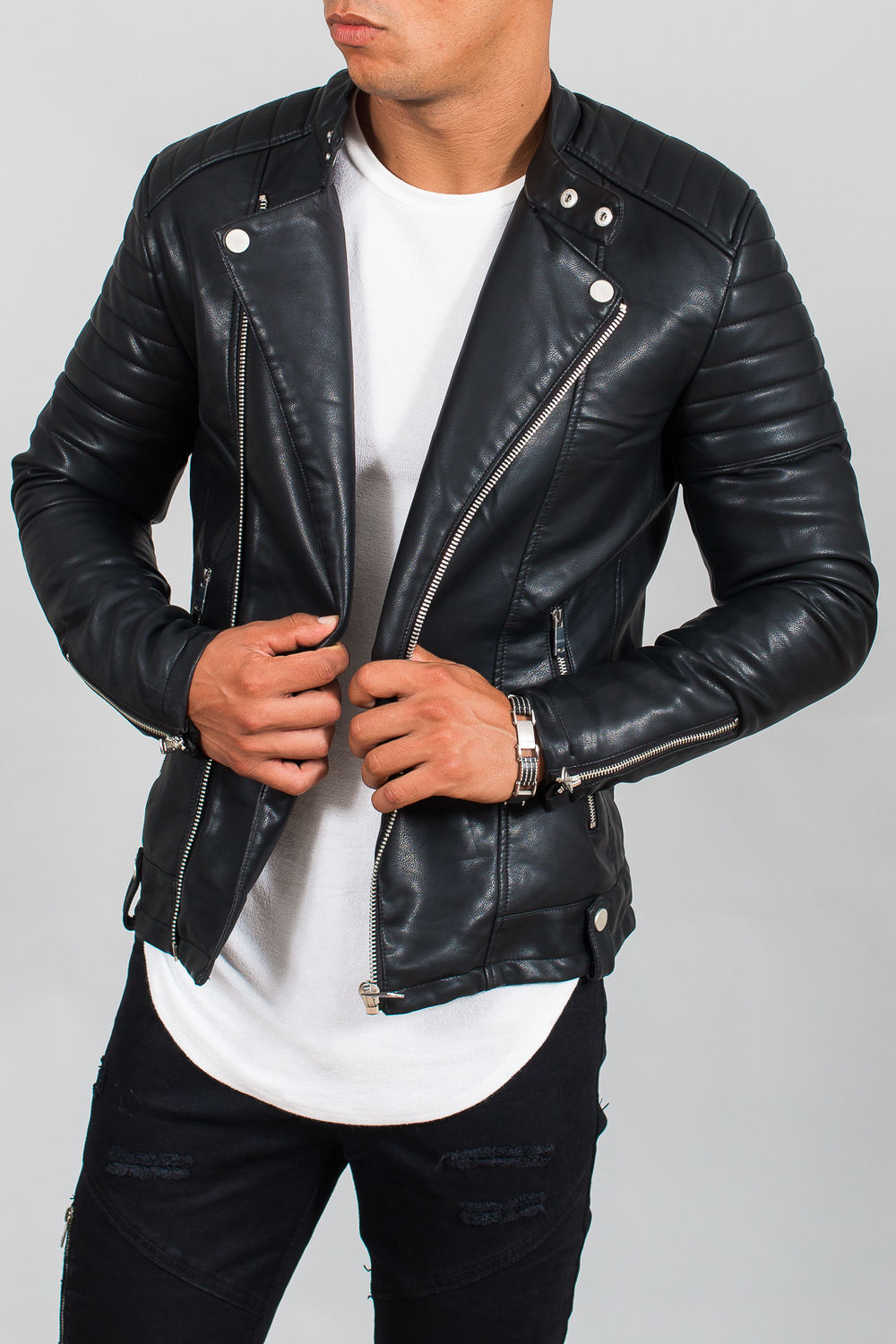 Blouson Fashion Marron Homme