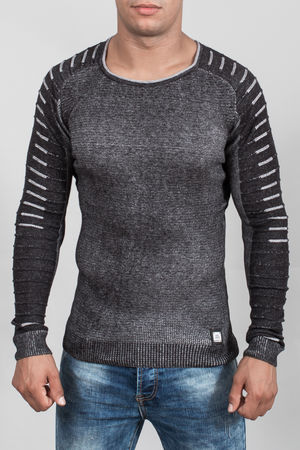 pull homme gris 3019
