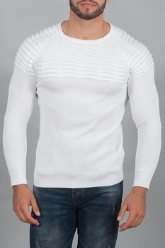 pull homme blanc  3090