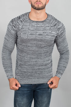 pull homme gris chiné  3090