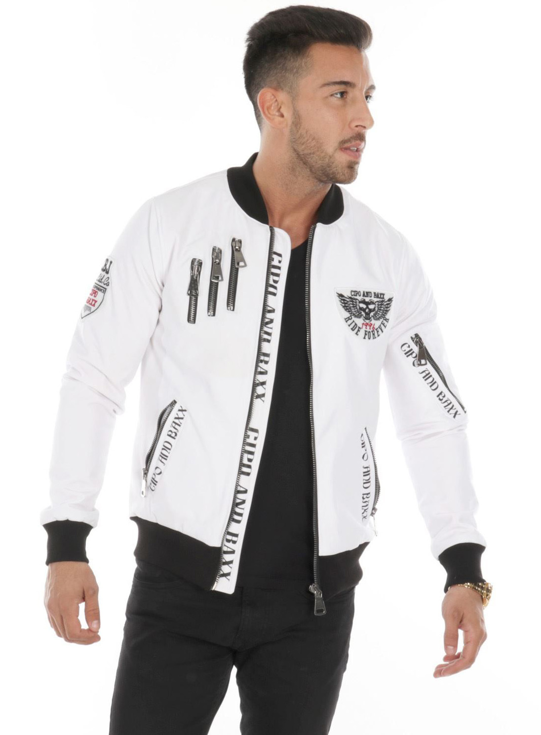 classic fit nice cheap online store bombers homme blanc 138