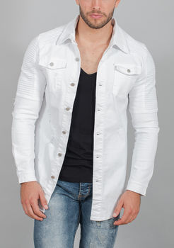 chemise homme jeans blanc 33170
