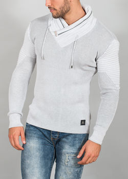 pull homme fin gris clair 577