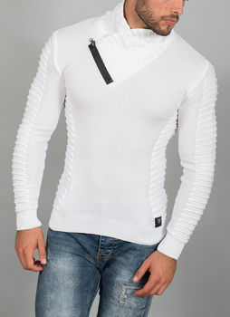 pull homme fin blanc 558