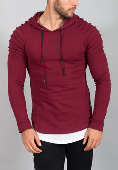Sweat homme à capuche bordeaux 710