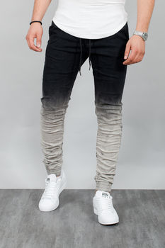 joggpants  homme noir tie and dye A02
