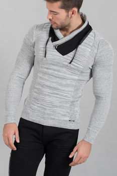 pull homme stylé gris 1640