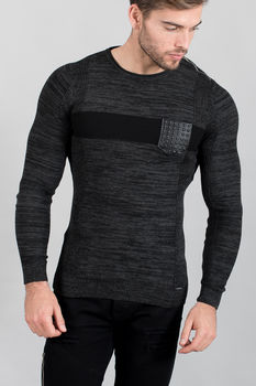 pull homme smoked black 1660