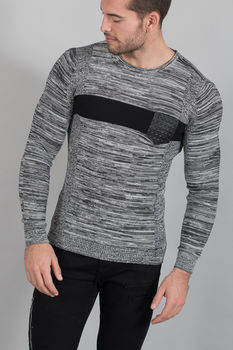 pull homme 1660 gris/black