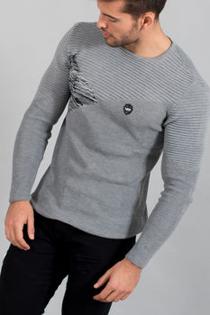 pull homme gris  1635