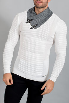 pull homme blanc  1620